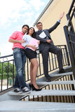 Couple visiting  new apartment Stock Image