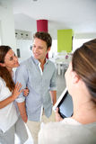 Couple visiting new home Royalty Free Stock Photography