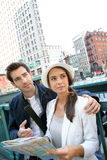 Couple visiting new york city Royalty Free Stock Photography