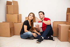 Couple visualizing their home Stock Photo