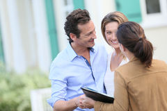 Couple wainting to buy a new property Stock Photo