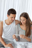 Couple waiting for the result of a test Royalty Free Stock Images