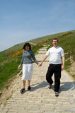 Couple for a walk Stock Image