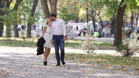Couple on walk stock video footage