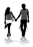 Couple on a walk Royalty Free Stock Photography