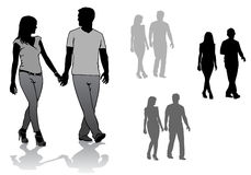 Couple on a walk Royalty Free Stock Photo