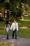 Couple Walk Park Royalty Free Stock Images