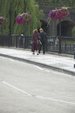 Couple walking. Professionals walking to work together Stock Photo