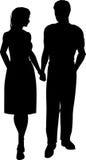 Couple walking Royalty Free Stock Photos