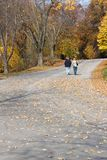 Couple walking. In the Fall Royalty Free Stock Photo