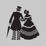 Couple walking. Royalty Free Stock Photos