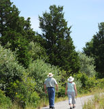 Couple walking. Stock Image