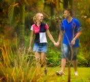 Couple walking stock photos