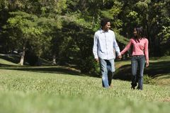 Couple walking. Royalty Free Stock Image