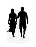 Couple Walking Royalty Free Stock Photo