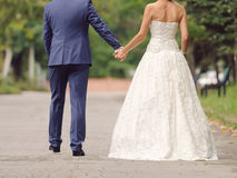Couple Walking at Alley Royalty Free Stock Images