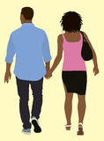 Couple Walking Away Royalty Free Stock Image