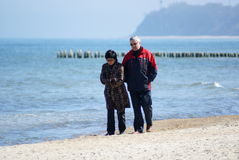 Couple walking at the Baltic Sea Royalty Free Stock Image