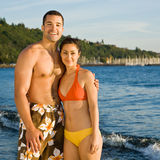 Couple walking on beach Royalty Free Stock Image