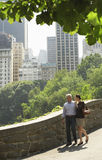Couple Walking In City Park Royalty Free Stock Photography