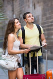 Couple walking in city Royalty Free Stock Photo