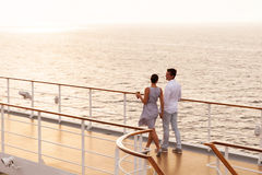 Couple walking cruise Stock Images