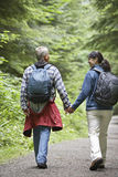 Couple Walking On Forest Road Royalty Free Stock Images