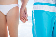 Couple walking hand in hand Royalty Free Stock Photography