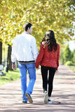 Couple walking royalty free stock images