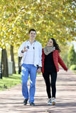 Couple walking Stock Photos