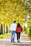 Couple walking Royalty Free Stock Image