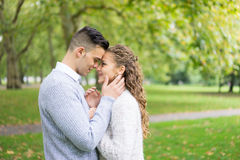 A couple walking in the Hyde Park, London Stock Photo