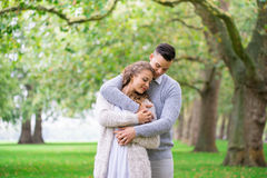 A couple walking in the Hyde Park, London Stock Photography