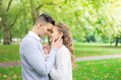 A couple walking in the Hyde Park, London Stock Image