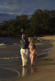 Couple walking on a maui beach Stock Image