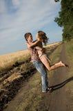 Couple walking on nature Stock Image
