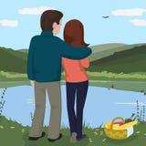 Couple walking at nature Stock Image
