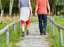 Couple walking in nature Royalty Free Stock Photography