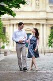 Couple walking in Paris Royalty Free Stock Photo