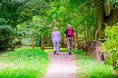 Couple walking Royalty Free Stock Photo