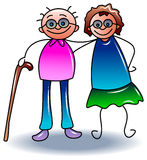 Couple walking Royalty Free Stock Image