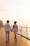 Couple walking ship Stock Images