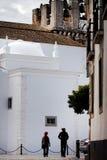 Couple walking on street Royalty Free Stock Image