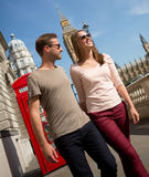 Couple walking the streets of London Stock Photography