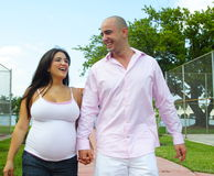 Couple Walking and Talking Royalty Free Stock Photography