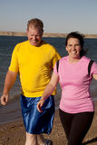 Couple walking together Stock Photos