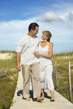 Couple walking together. royalty free stock photos