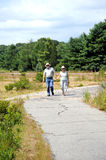 Couple walking together. Royalty Free Stock Image