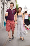 Couple walking together Royalty Free Stock Photos