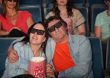 Couple Watching 3D Movie Royalty Free Stock Images
